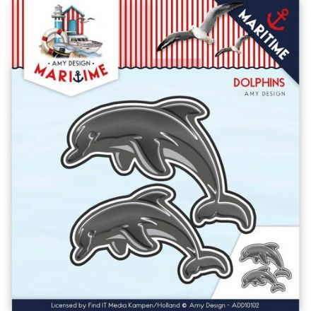 ADD10102 ~ Dolphins ~ Maritime ~ Amy Design